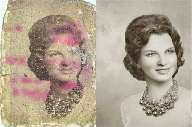 Tetyana Dyatchenko rekonstruuje stare zdjęcia dając im nowe życie
