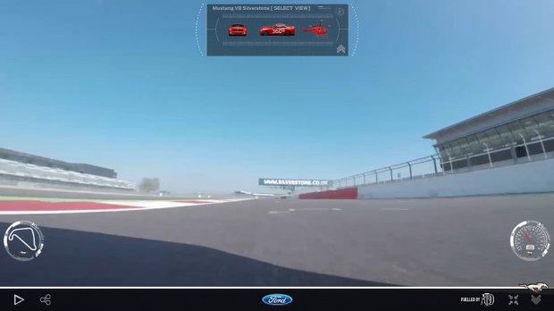 Mustang na Silverstone   Okr��enie z wielu perspektyw   Wideo