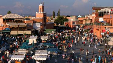 Maroko. Marrakesz - Dżemaa el-Fna
