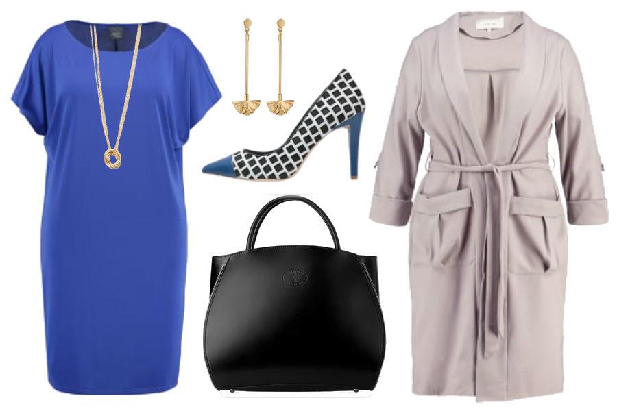Kolaż Avanti24 / Stylizacja z kobaltową sukienką / Materiały partnera