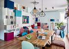 Kolorowe mieszkanie dla singielki