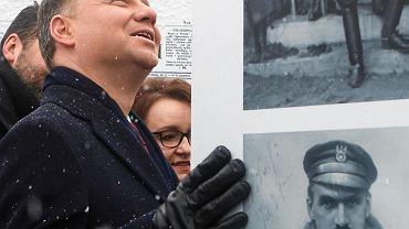 Prezydent Andrzej Duda podczas inauguracji obchodów 100lecia odzyskania niepodległości w Stróży