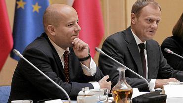 Mikołaj Dowgielewicz z Donaldem Tuskiem