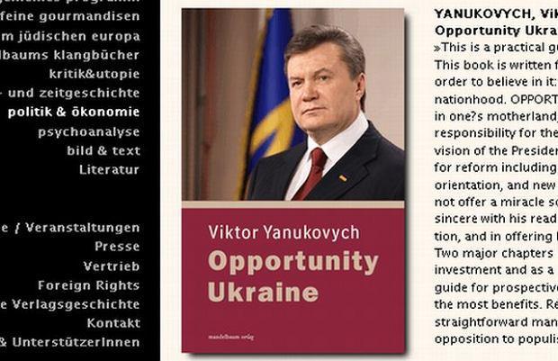 Ksi��ka Janukowycza to plagiat tekst�w opozycjonist�w