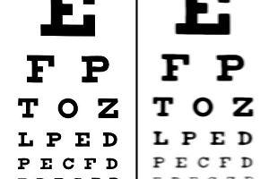 Krótkowzroczność - oczy niezdrowo zmrużone