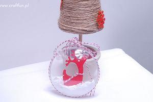 Ozdoby choinkowe DIY: bombka z reniferem