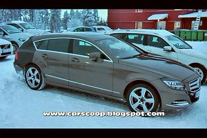 Mercedes CLS Shooting Break, prawie bez kamufla�u | Wideo