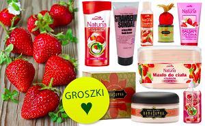 truskawkowy kosmetyk, truskawka, owoce