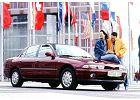 MITSUBISHI Galant Sedan 93-97, rok produkcji 1995, sedan, widok przedni prawy, samoch�d 4-drzwiowy, kolor bordeaux (czerwony ciemny)