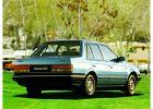 MAZDA 323 Sedan 85-87, rok produkcji 1985, sedan, widok tylny prawy, samoch�d 4-drzwiowy, kolor niebieski jasny