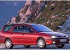 RENAULT Laguna Kombi 98-01, rok produkcji 1998, kombi, widok przedni prawy, samoch�d 5-drzwiowy, kolor bordeaux (czerwony ciemny)