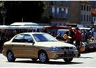 DAEWOO / FSO Lanos Sedan 97-04, rok produkcji 1998, sedan, widok przedni prawy, samoch�d 4-drzwiowy, kolor z�oty