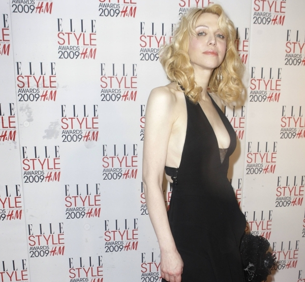 U.S. musician Courtney Love arrives for the 2009 Elle Style Awards at Big Sky studios in north London, Monday, Feb. 9, 2009. (AP Photo/Joel Ryan)