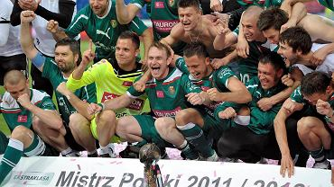 Śląsk Wrocław po zwycięstwie nad Wisłą Kraków, które dało drużynie tytuł Mistrza Polski