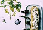 Cukinie faszerowane kozim serem z miętą