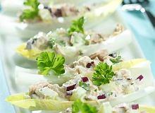 Sałatka z tuńczyka na cykorii - ugotuj