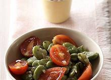 Sałatka z bobu i pomidorków - ugotuj