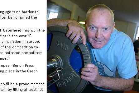 Ged Mullane - najsilniejszy emeryt w Wlk. Brytanii (fot. za oldhamadvertiser.co.uk)