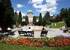 Lądek-Zdrój. Park zdrojowy wokół Zakładu Przyrodoleczniczego Wojciech