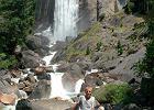 Yosemite Valley ma podobno najwi�ksza koncentracje wodospad�w na kilometr kwadratowy. Oto  jeden z z nich.