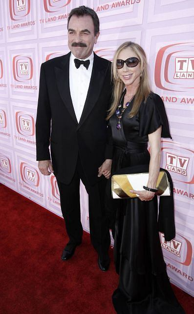 Actor Tom Selleck and his wife Jillie Mack arrive at the TV Land Awards on Sunday Jan. 19, 2009 in Universal City, Calif. (AP Photo/Matt Sayles)