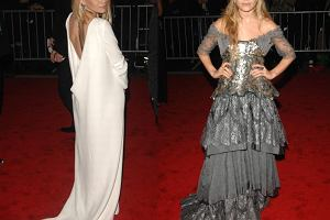 Pani posągowa kontra dziewczyna rycerza. Ashley czy Mary-Kate - która Olsenka wyglądała gorzej na imprezie Costume Institute Gala?