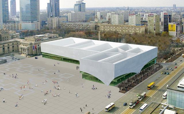 Tak wyglądała koncepcja budynku Muzeum Sztuki Nowoczesnej