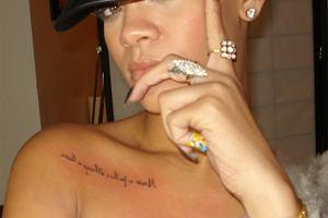 Rihanna pokaza�a nowy tatua� - HIT czy KIT?