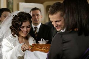 Podczas ceremonii towarzyszy�a im ca�a rodzina... Mostowiak�w.