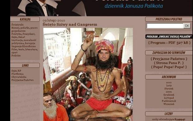 Palikot jako hinduski fakir, a Tusk?