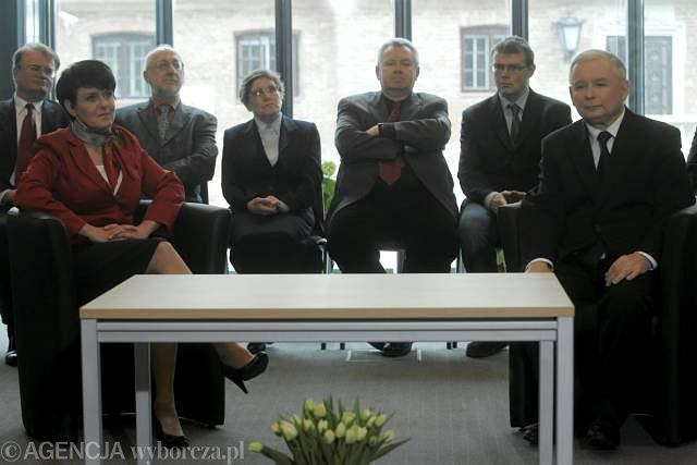 Prezes PiS podczas prezentacji społecznego warszawskiego komitetu poparcia Jarosława Kaczyńskiego w wyborach prezydenckich