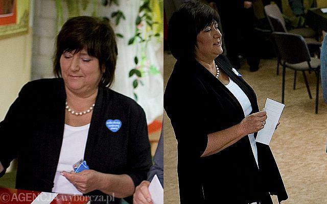 Anna Komorowska z mężem pojawiła się w obwodowej komisji wyborczej w Maćkowej Rudzie.