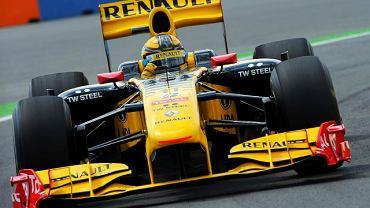 Robert Kubica w bolidzie Renault F1 Team