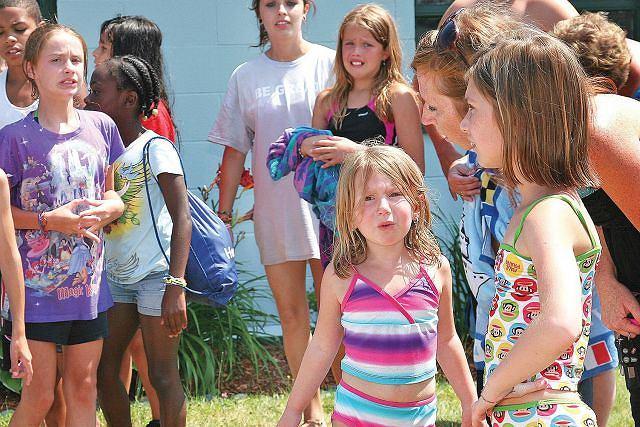 Poparzone dzieci były bardzo przestraszone Fot. AP/Rich Beauchesne
