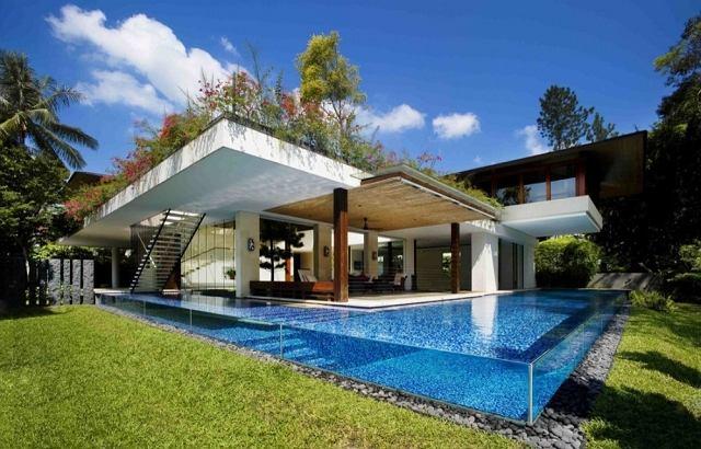 Dom z basenem zamiast ścian