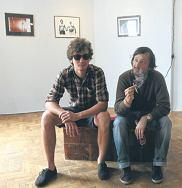 Witek Orski i Janek Zamoyski w galerii Czułość w 5-10-15