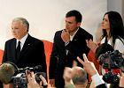 Marcin Dubieniecki w towarzystwie żony Marty Kaczyńskiej-Dubienieckiej i jej stryja prezesa PiS Jarosława Kaczyńskiego