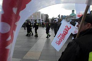 Rozpocz�a si� demonstracja zwi�zkowc�w w Warszawie
