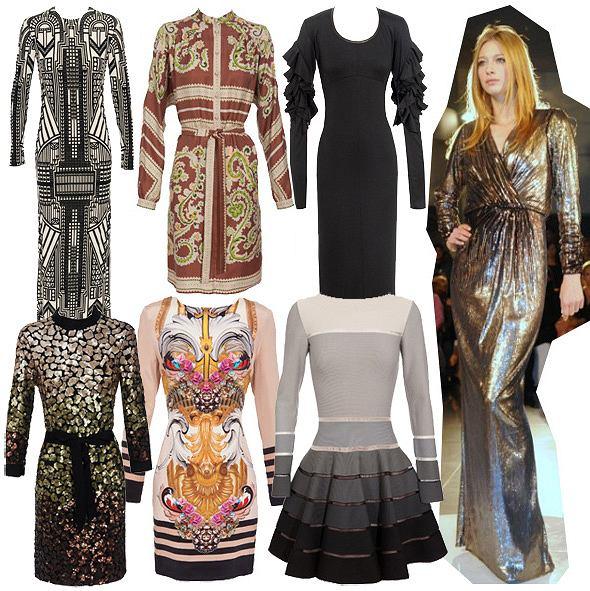 5733869efe Jesienne sukienki z długim rękawem