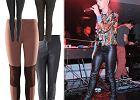 W stylu gwiazd - skórzane spodnie i leginsy wet look