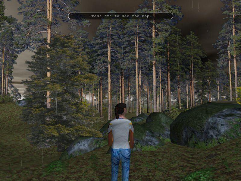 Bieganie na orientację na komputerze - gra Catching Features