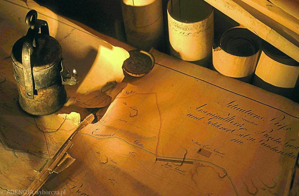 Mapy sztolni kopalni złota w Złotym Stoku / Fot. Marzena Hmielewicz / AG