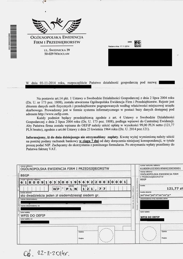 Fa�szywe rejestry firm dzia�aj� w najlepsze, a prokuratura odmawia dochodze�