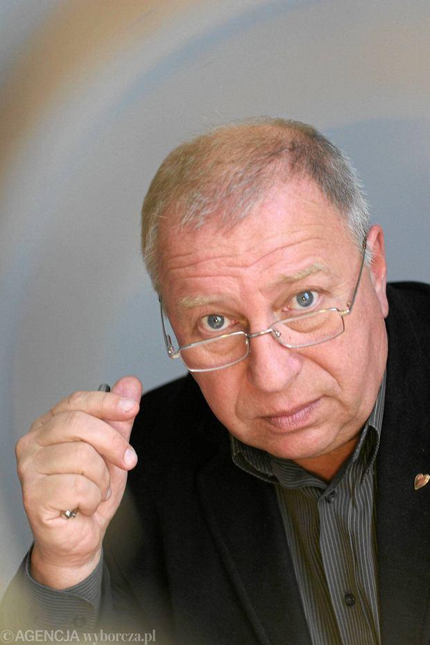 24.10.2005 KRAKOW , JERZY STUHR , REKTOR PWST W KRAKOWIE , AKTOR TEATRALNY I FILMOWY , FOT. GRAZYNA MAKARA / AGENCJA GAZETA