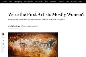 Czy pierwsi arty�ci byli... artystkami?