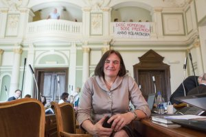 """""""Do�� przemocy, Anno Ko�akowska"""". Protest przeciwko zachowaniom radnej PiS"""