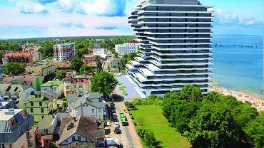 Apartamentowce firmy Siemaszko w Międzyzdrojach - wizualizacja
