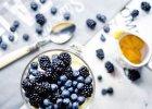 Trifle z je�ynami, bor�wkami i kremem cytrynowym