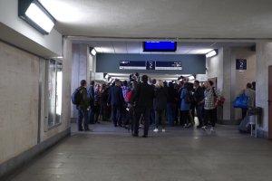 Premier Ewa Kopacz przyjecha�a tramwajem do Ronda Sztuki