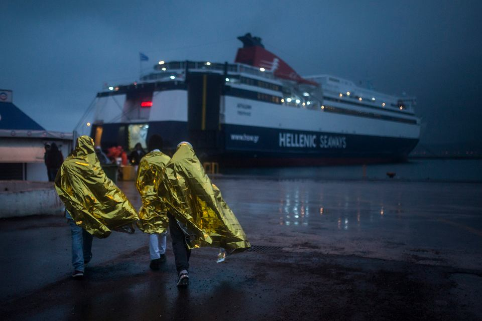 Uchodźcy na wyspie Lesbos